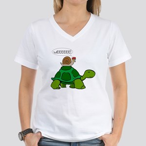 Snail & Turtle Women's V-Neck T-Shirt
