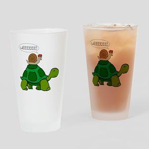 Snail & Turtle Drinking Glass