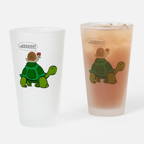Snail & Turtle Drinking Glass