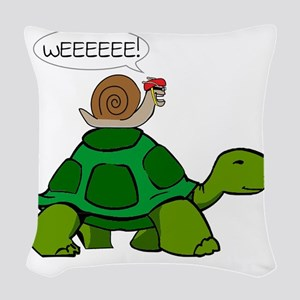 Snail & Turtle Woven Throw Pillow