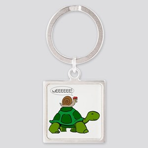 Snail & Turtle Square Keychain