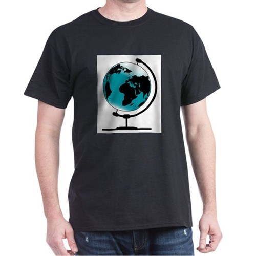 Mounted Globe On Rotating Swivel T-Shirt