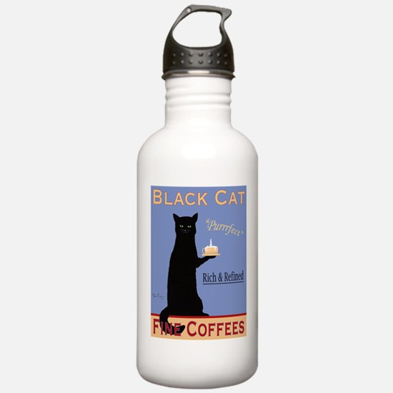 Black Cat Coffee Sports Water Bottle