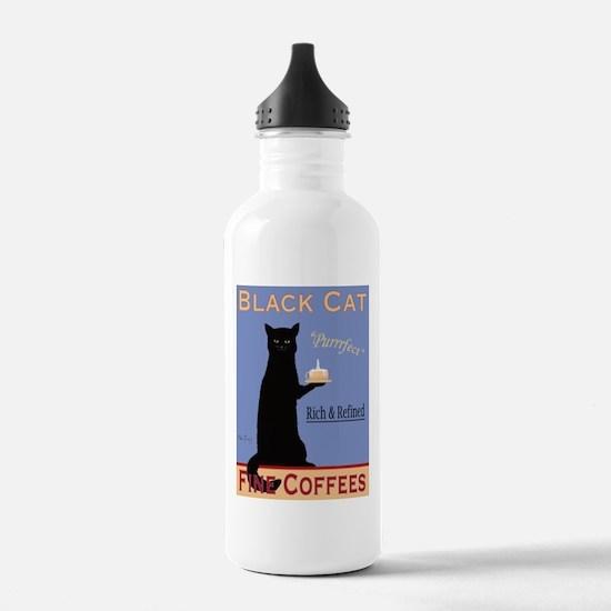 Black Cat Coffee Water Bottle