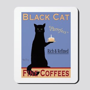 Black Cat Coffee Mousepad