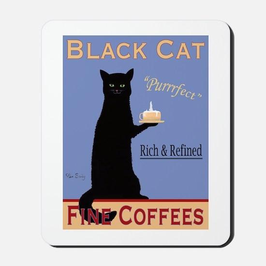 Black Cat Coffee Mousepad