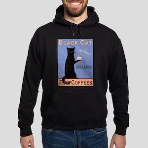 Black Cat Coffee Hoodie (dark)