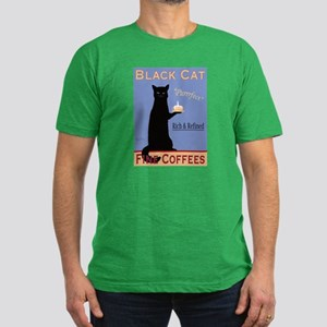 Black Cat Coffee Men's Fitted T-Shirt (dark)