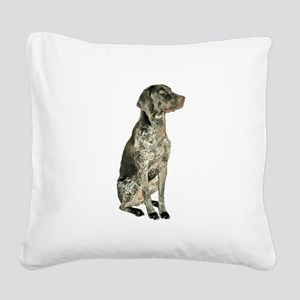 German Short Haired Ptr Square Canvas Pillow
