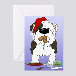 Bulldog Santa Greeting Cards (Pk of 20)