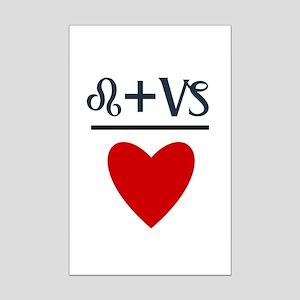 Leo + Capricorn = Love Mini Poster Print