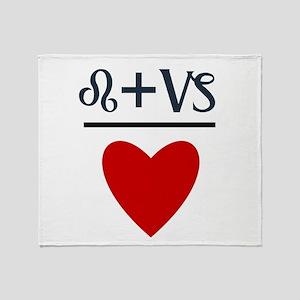 Leo + Capricorn = Love Throw Blanket