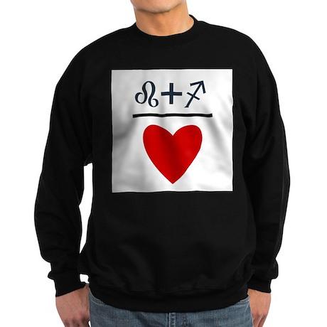 Leo + Sagittarius = Love Sweatshirt (dark)