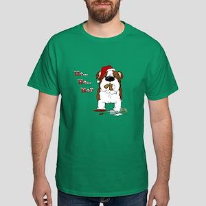 Bulldog Santa Dark T-Shirt