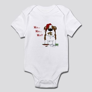 Bulldog Santa Infant Bodysuit