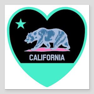 "Love Cali Square Car Magnet 3"" x 3"""