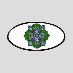 Green Hanukkah Mandala Patch