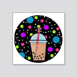 "Bubble Tea Square Sticker 3"" x 3"""
