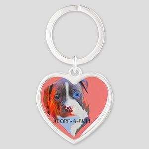 Adore-a-Bull Heart Keychain