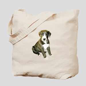 Brindle-White Great Dane Pup Tote Bag