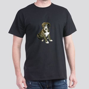 Brindle-White Great Dane Pup Dark T-Shirt