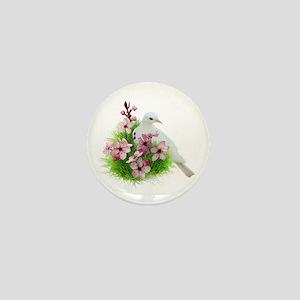 Spring Dove Mini Button
