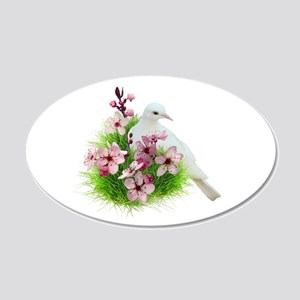 Spring Dove 20x12 Oval Wall Decal