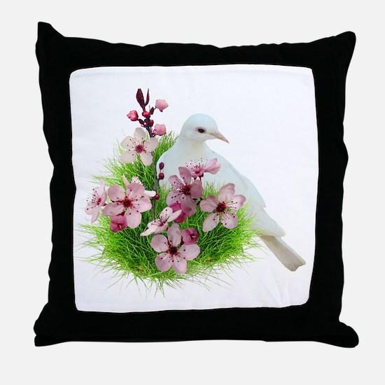 Spring Dove Throw Pillow