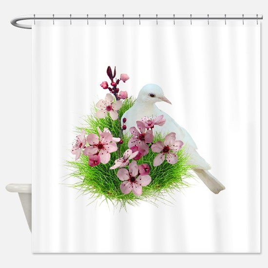 Spring Dove Shower Curtain