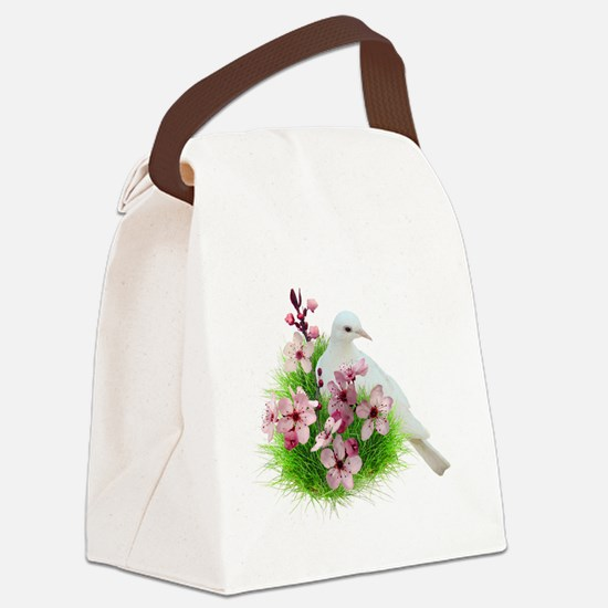 Spring Dove Canvas Lunch Bag