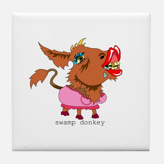 Swamp Donkey Tile Coaster