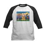 Buddha 1 - Inner Peace Kids Baseball Jersey