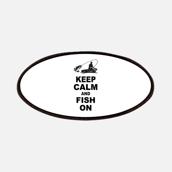 Keep Calm and Fish On Patches
