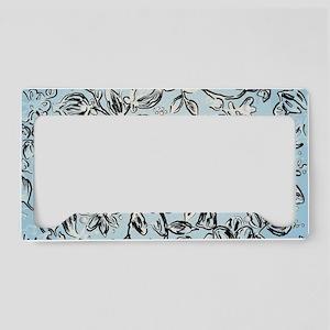 Vintage Trendy Pattern Design License Plate Holder