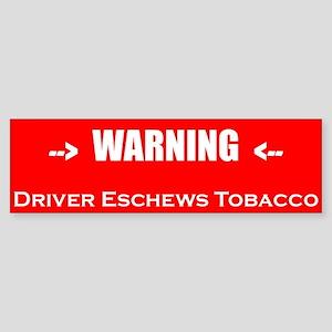 Driver Eschews Bumper Sticker