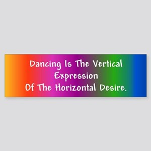 Horizontal Desire Bumper Sticker