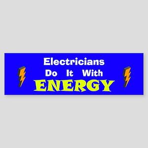 Electricians Do It Bumper Sticker