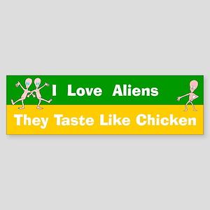 Love Aliens Bumper sticker