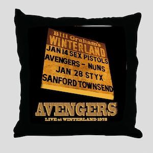 AVENGERS - Live at Winterland Album A Throw Pillow