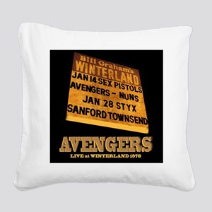 AVENGERS - Live at Winterland Square Canvas Pillow