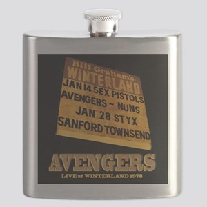 AVENGERS - Live at Winterland Album Art Flask