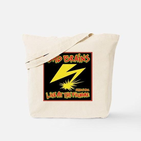 Bad Brains Live at the Fillmore Album Art Tote Bag