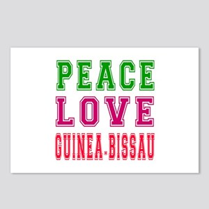Peace Love Guinea-Bissau Postcards (Package of 8)