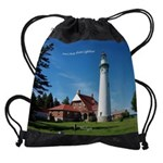 Seul Choix Point Lighthouse Drawstring Bag