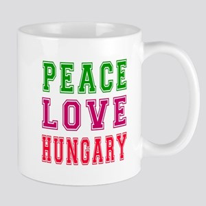 Peace Love Hungary Mug