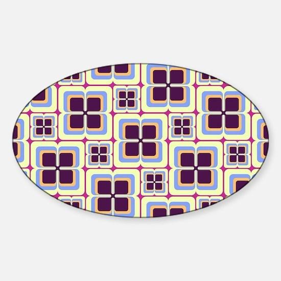 Vintage Trendy Pattern Design Sticker (Oval)