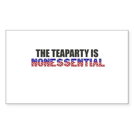 The Teaparty is Nonessential Shutdown Sticker