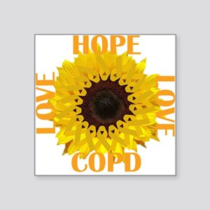 COPD Hope Sunflower Sticker