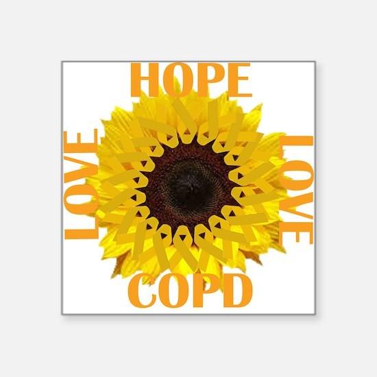 COPD Hope Sunflower Sticker