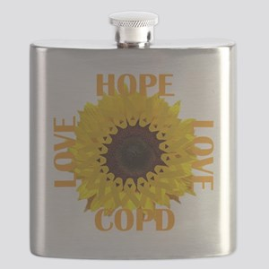 COPD Hope Sunflower Flask